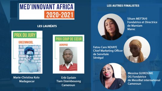 AgroPad (Cameroun) et GreenNKool (Madagascar), remportent le concours MED'INNOVANT AFRICA 2020-2021